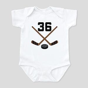 Hockey Player Number 36 Infant Bodysuit