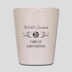 World's Greatest Great Grandma Shot Glass