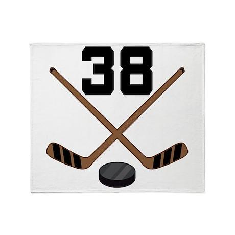 Hockey Player Number 38 Throw Blanket