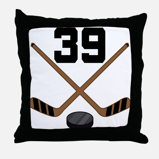 Hockey Player Number 39 Throw Pillow