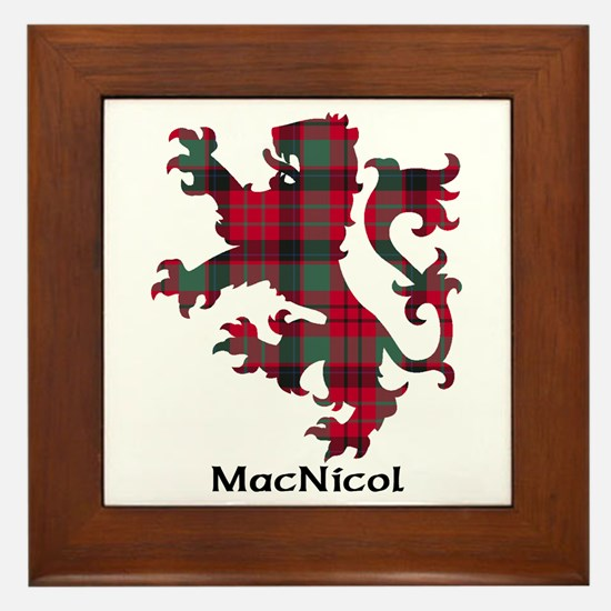 Lion - MacNicol Framed Tile