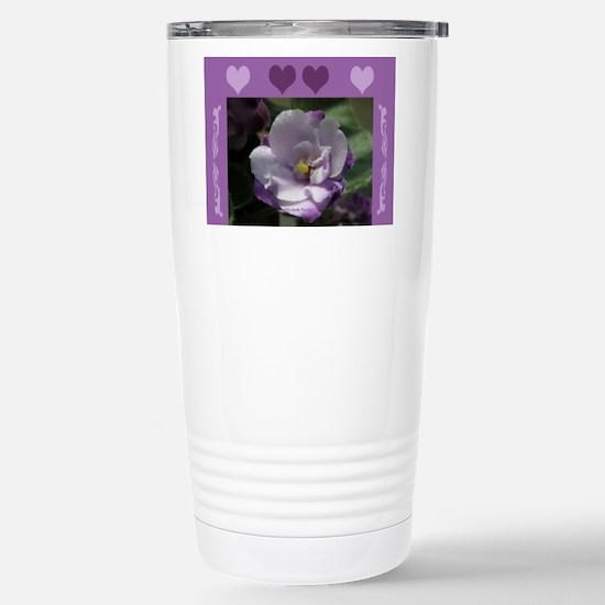 African Violet Stainless Steel Travel Mug