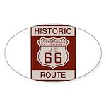 Victorville Route 66 Sticker (Oval 10 pk)