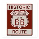 Victorville Route 66 Square Car Magnet 3