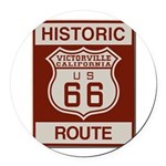 Victorville Route 66 Round Car Magnet