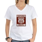 Victorville Route 66 Women's V-Neck T-Shirt