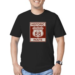 Victorville Route 66 Men's Fitted T-Shirt (dark)