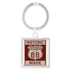 Victorville Route 66 Square Keychain