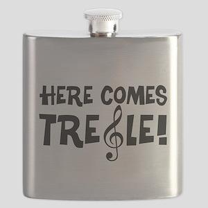 Here Comes Treble Flask
