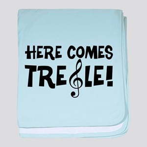 Here Comes Treble baby blanket