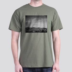 Ansel Adams Distant View of Mountains Dark T-Shirt