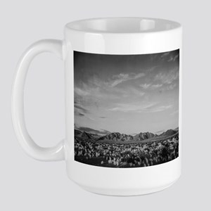 Ansel Adams Distant View of Mountains Large Mug