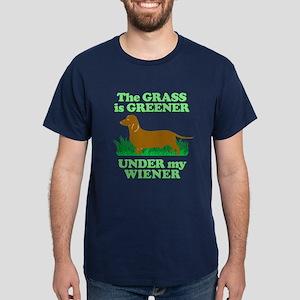 Grass Is Greener Under My Wiener! Dark T-Shirt