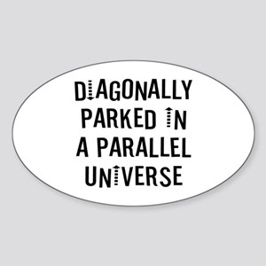 Diagonally Sticker (Oval)