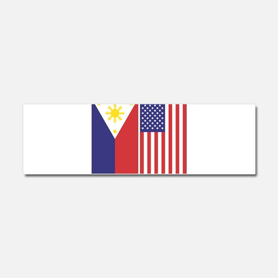 Cute Philippines Car Magnet 10 x 3