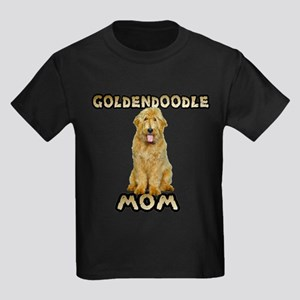 Goldendoodle Mom Kids Dark T-Shirt