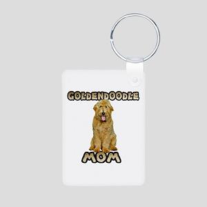 Goldendoodle Mom Aluminum Photo Keychain