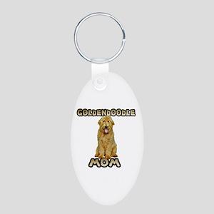 Goldendoodle Mom Aluminum Oval Keychain