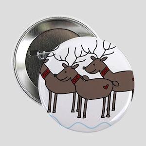 "Reindeers 2.25"" Button"