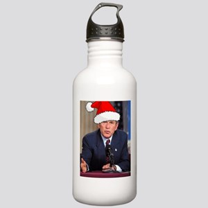 George Bush Christmas Stainless Water Bottle 1.0L