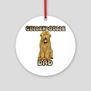 Goldendoodle Dad Ornament (Round)
