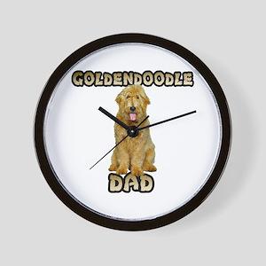 Goldendoodle Dad Wall Clock