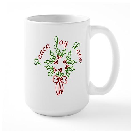 Peace Love Joy Large Mug