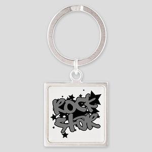 Rock Star Square Keychain