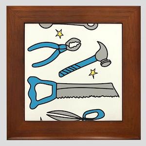 Handyman Tools Framed Tile