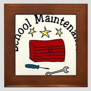 School Maintenance Framed Tile
