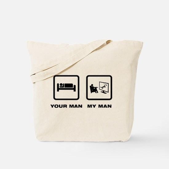 TV Watching Tote Bag