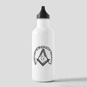 Wisdom Strength Beauty Stainless Water Bottle 1.0L