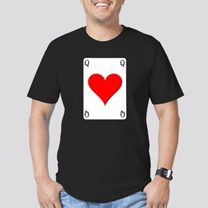 Queen of Hearts Men's Fitted T-Shirt (dark)