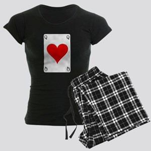 Queen of Hearts Women's Dark Pajamas