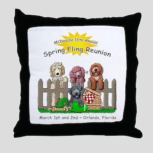MC 12th Spring Fling Throw Pillow