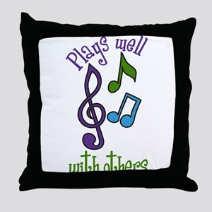 Plays Well Throw Pillow