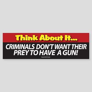 A. Think About It Sticker (Bumper)