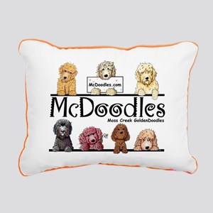 Goldendoodle McDoodles Rectangular Canvas Pillow