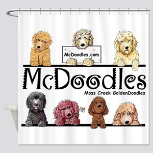 Goldendoodle McDoodles Shower Curtain