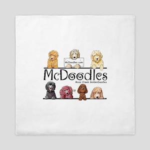 Goldendoodle McDoodles Queen Duvet