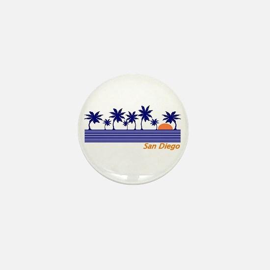 Cute San diego california Mini Button