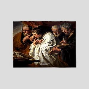 The Four Evangelists 5'x7'Area Rug