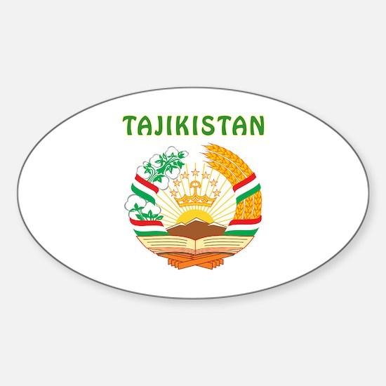 Tajikistan Coat of arms Sticker (Oval)