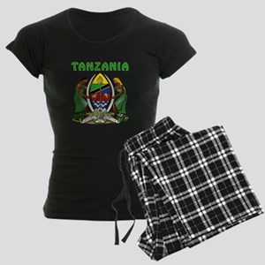 Tanzania Coat of arms Women's Dark Pajamas