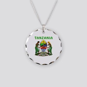 Tanzania Coat of arms Necklace Circle Charm