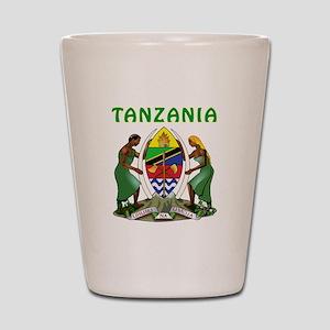 Tanzania Coat of arms Shot Glass