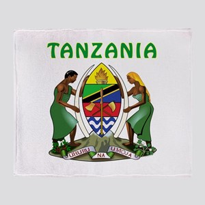 Tanzania Coat of arms Throw Blanket