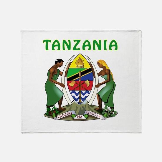 Tanzania Coat of arms Throw Blanket