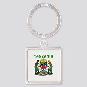 Tanzania Coat of arms Square Keychain