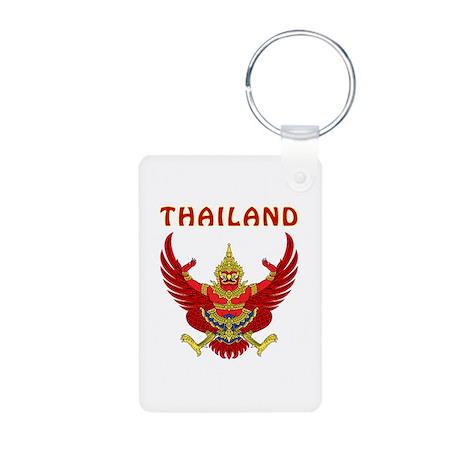 Thailand Coat of arms Aluminum Photo Keychain